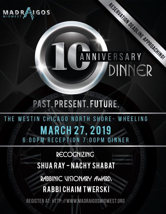 10th Anniversary Dinner – 2019